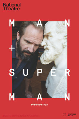Man and Superman Wall Art & Canvas Prints by Graphic Design Studio