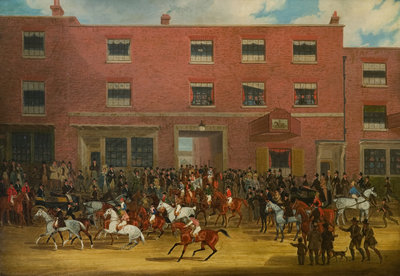 The St Albans Grand Steeplechase of March 8, 1832 Wall Art & Canvas Prints by James Pollard
