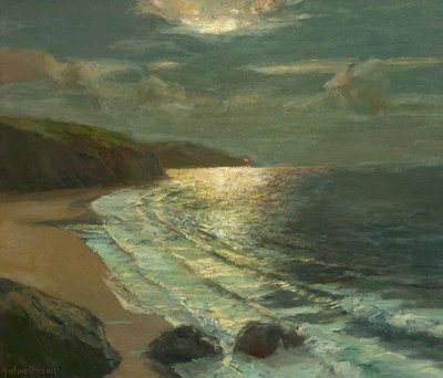 Moonlight on the coast by Julius Olsson - print