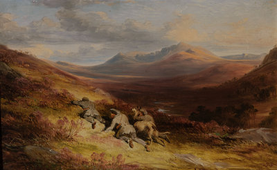 Stalking c.1845 Wall Art & Canvas Prints by James William Giles