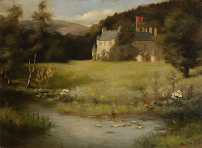 View of Leith Hall from the South East 1907 Wall Art & Canvas Prints by J. E. Hay