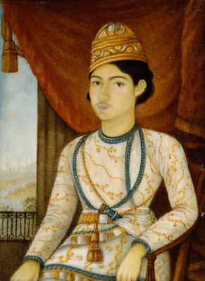 Nawab of Oudh c.1850 Wall Art & Canvas Prints by Anglo-Indian School