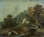 Cattle watering in a stream by Thomas Gainsborough - print