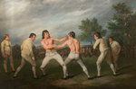 William Warr Defeating William Wood at Navestock in Essex, December 31st 1788 by Richard Ramsay Reinagle - print