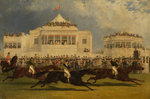 The Race for the Emperor of Russia's Cup at Ascot, 1845 by John Frederick Herring Senior - print