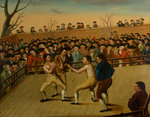 The Fight between Jackson and Mendoza at Hornchurch, 1795 by English School - print