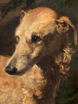 Head of Driver, a Deerhound Owned by the 5th Duke of Gordon by Sir George Reid - print