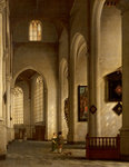Interior of Church of Saint Bavo, Haarlem, 1654 by Italian School - print