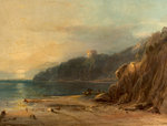Coast Scene with Castle, 1850 by Alfred Stevens - print