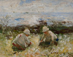 On the Bents, Carnoustie by Robert Gemmell Hutchinson - print
