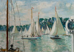 Racing Yachts on the Seine by Jacques-Emile Blanche - print