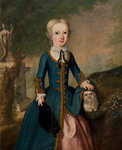 Alexander (Sandy) Brodie, later 20th laird, as a child with a dog by Abraham Bloemaert - print