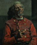 Portrait of a Man in a red Tunic, 1885 by Edward Atkinson Hornel - print