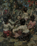 Lace Makers, Ceylon, 1908 by Edward Atkinson Hornel - print