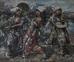 Three Japanese Peasants, c.1921-5 by Edward Atkinson Hornel - print