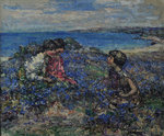 Wild Flax at Brighouse, 1932 by Edward Atkinson Hornel - print