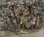 Japanese Dancers, c.1921-25 by Edward Atkinson Hornel - print