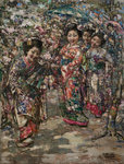 The Green Parasol, 1922 by Edward Atkinson Hornel - print