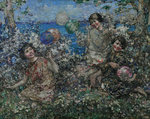 Balloons & Blossom, Brighouse Bay, 1897-1933 by Edward Atkinson Hornel - print