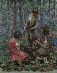 The Flower Princess, c.1897-1933 by Edward Atkinson Hornel - print