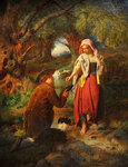 The Betrothal of Burns and Highland Mary, c.1860 by William Henry Midwood - print