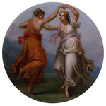 Two Figures Dancing by unknown - print