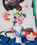 Still Life with Roses and Mirror by Samuel John Peploe - print