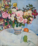 Still Life with Roses Fine Art Print by Peter Graham