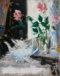 Pink Roses and Teapot by Francis Cadell - print