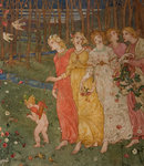 Cupid's Darts by Phoebe Anna Traquair - print