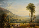 View with Leith Hall by John Varley I - print