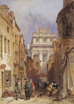 Fisher's Alley, Greenwich by Clarkson Stanfield - print