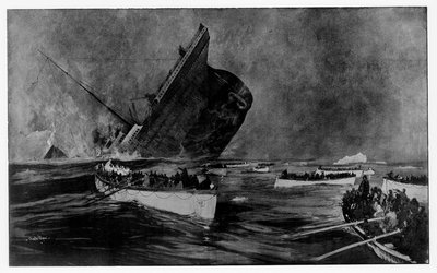 Loss of RMS 'Titanic', 1912 by Charles Dixon - print