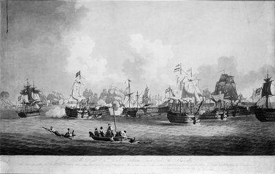 The 'Glorious Victory' at the Battle of Trafalgar, 21 October 1805 by John Thomas Serres - print