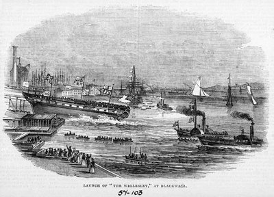 Engraving of the 'Wellesley' by unknown - print