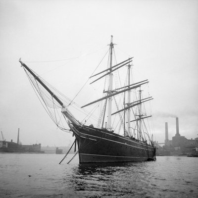 'Cutty Sark' (1869) at anchor by unknown - print