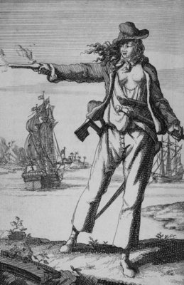 Anne Bonny, female pirate by unknown - print