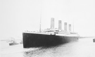 Passenger liner 'Titanic' (Br, 1912) Oceanic Steam Nav Co Ltd, (Ismay Imrie & Co Ltd, managers) (White Star Line): leaving Southampton by unknown - print