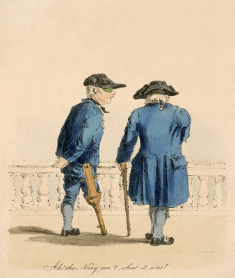 'Ah! the Navy arn't what it was!' (Greenwich Pensioner) by H. C.C. Engleman - print