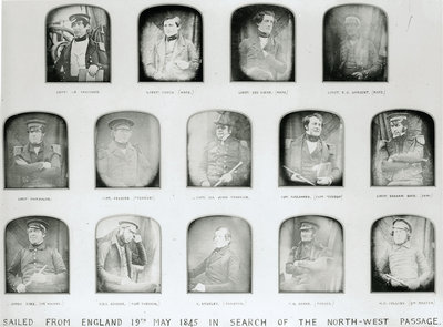 Officers who sailed in search of the North-West Passage with Sir John Franklin in 1845 by Baird - print