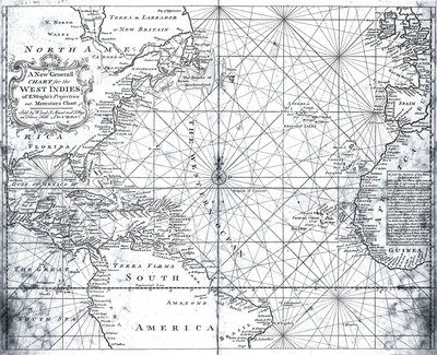 Map of the North Atlantic by Mount and Page by Mount - print