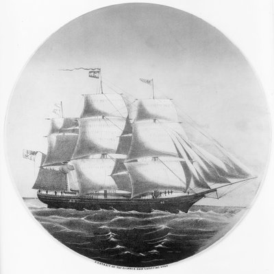 Portrait of the clipper ship 'Shooting Star' by unknown - print