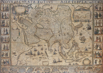 Map of Asia, 1644 by unknown - print