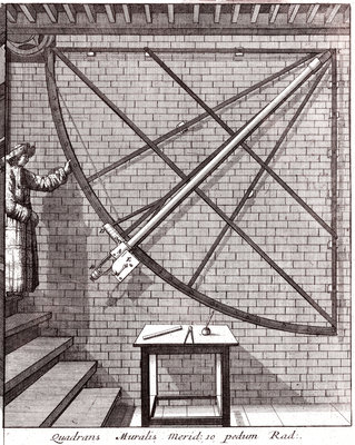 robert hooke 39 s 10 foot mural quadrant made for the royal