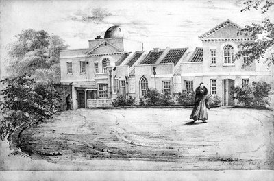 Old Royal Observatory Miss Smiths drawings 18th Oct 1838 by Miss Smith - print