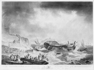 The distressful situation of the East Indiaman 'Dutton' by Robert Pollard - print