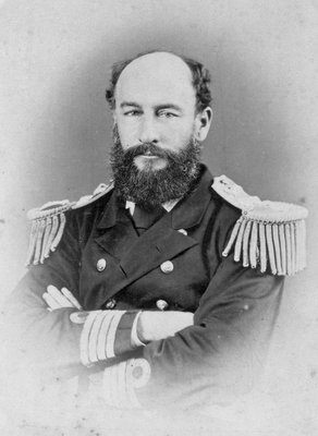 Admiral Sir George Strong Nares KCB (1831-1915), Arctic explorer and commander of 'Challenger' by unknown - print