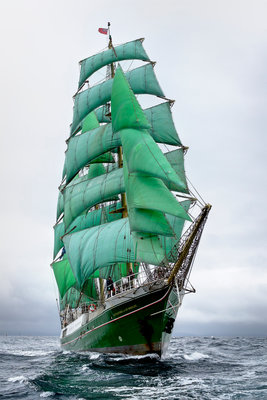 Barque 'Alexander von Humboldt' during Lerwick to Stavanger Tall Ships Race 2011 by Richard Sibley - print