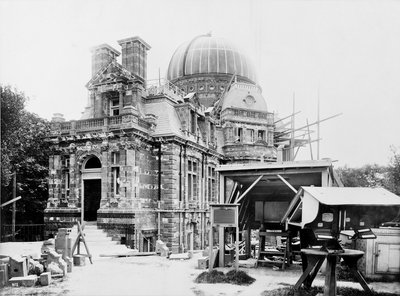 The South building under construction at the Royal Observatory, Greenwich by unknown - print