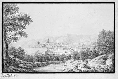 View of Bastia before the English controlled Corsica by unknown - print